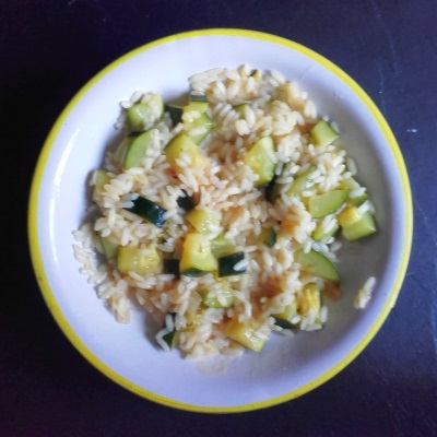 Risotto med courgetter, citron og timian